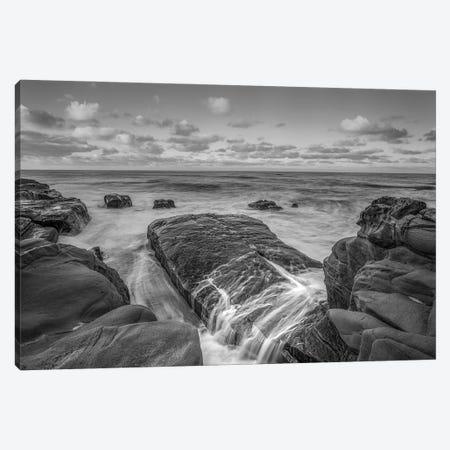 A Moody Coastal Monochrome Canvas Print #JGL70} by Joseph S. Giacalone Canvas Artwork