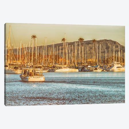 Oceanside Harbor Vintage Canvas Print #JGL79} by Joseph S. Giacalone Canvas Wall Art