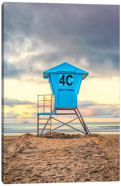 4C At Coronado Central Beach Canvas Art Print