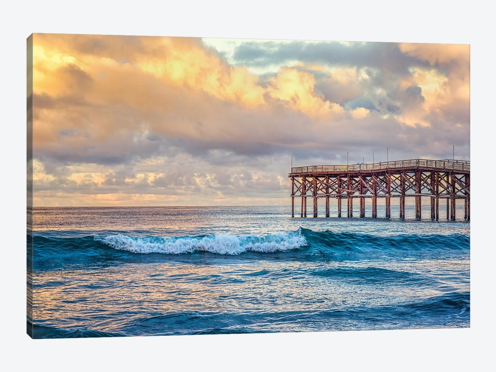 Winter Sunrise At Crystal Pier by Joseph S. Giacalone 1-piece Canvas Print