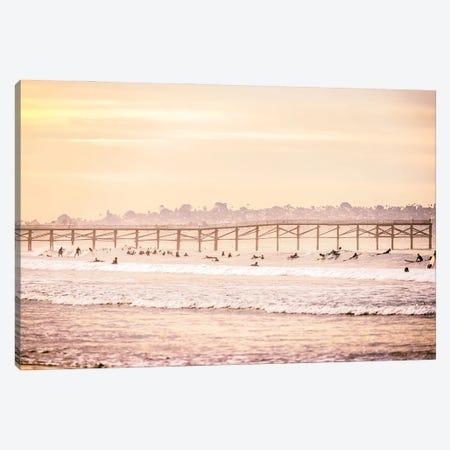 November Surf Session Canvas Print #JGL93} by Joseph S. Giacalone Canvas Art