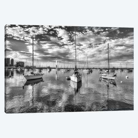 Moored On Glass Canvas Print #JGL99} by Joseph S. Giacalone Canvas Artwork