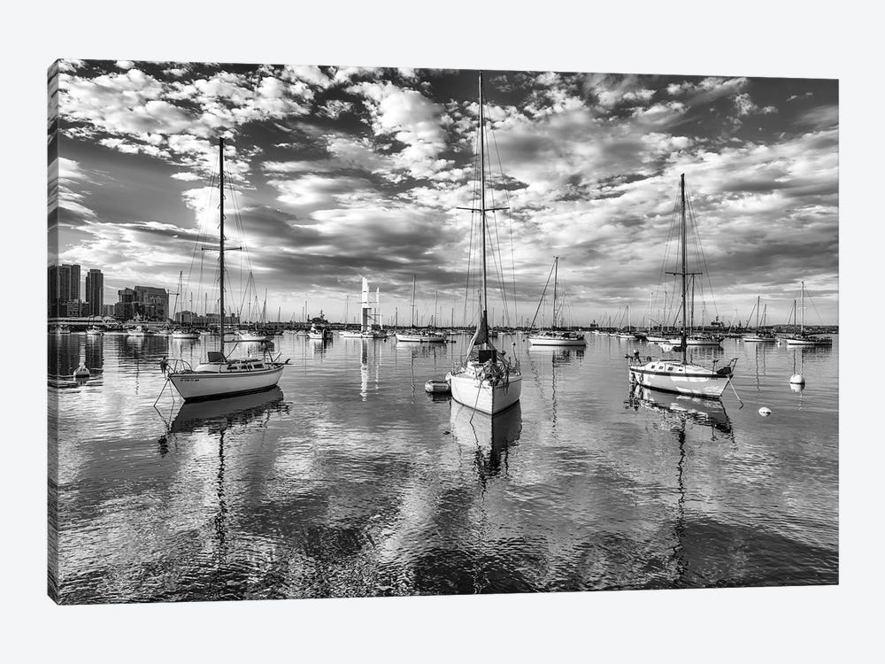 Moored On Glass by Joseph S. Giacalone 1-piece Canvas Print