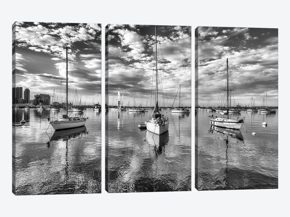 Moored On Glass by Joseph S. Giacalone 3-piece Art Print