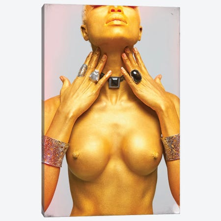 Golden Girl Canvas Print #JGM29} by Jordi Gomez Canvas Artwork