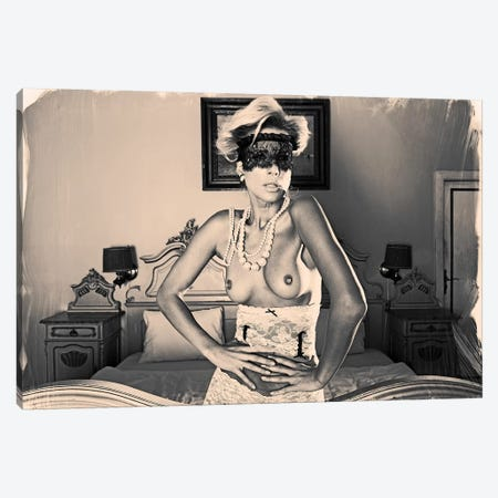Hotel Europa Lady Canvas Print #JGM32} by Jordi Gomez Art Print