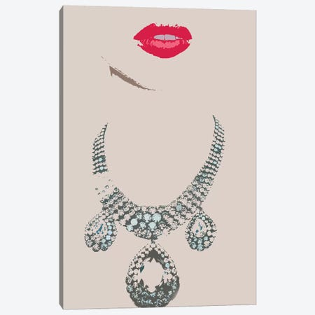 Lips & Necklace Canvas Print #JGM51} by Jordi Gomez Canvas Print