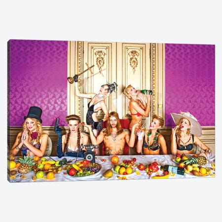 Blessing The Table Canvas Print #JGM5} by Jordi Gomez Canvas Wall Art