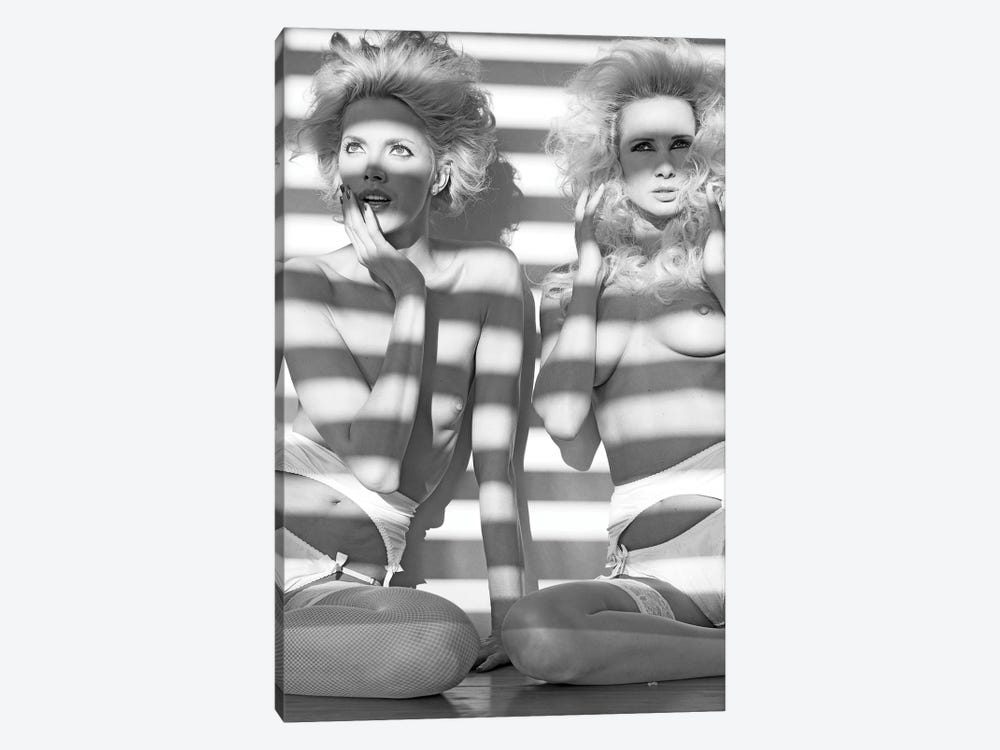 Stripes Ladies by Jordi Gomez 1-piece Canvas Print