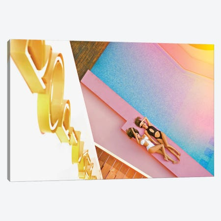 Tropicana Girls Canvas Print #JGM96} by Jordi Gomez Canvas Art