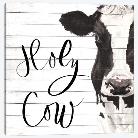 Holy Cow Canvas Print #JGN11} by Jenny Green Canvas Art