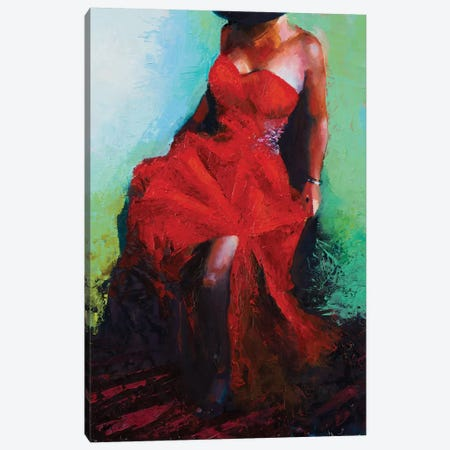 Lady in Red Canvas Print #JGN14} by Jenny Green Art Print