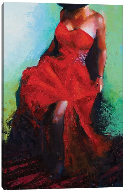 Lady in Red Canvas Art Print