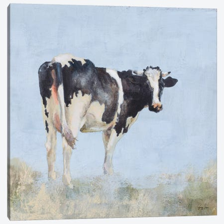 Posing Cow Canvas Print #JGN19} by Jenny Green Canvas Wall Art