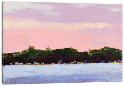 Across the Lake Canvas Art Print