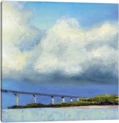 Approaching The Bridge Canvas Art Print