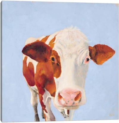 Cow Self Portrait Canvas Art Print