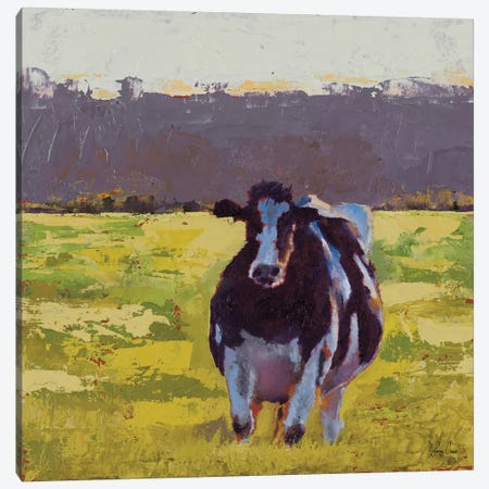 Fat Cow in the Field Canvas Print #JGN9} by Jenny Green Canvas Art