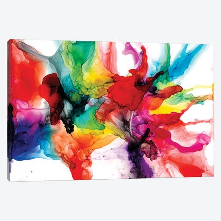 Jeweltone Prism II 3-Piece Canvas #JGO1005} by Jennifer Goldberger Canvas Art