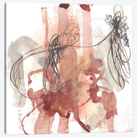 Linear Connection II Canvas Print #JGO1012} by Jennifer Goldberger Canvas Artwork