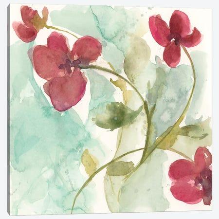 Sweetheart Flowers I Canvas Print #JGO1027} by Jennifer Goldberger Canvas Art