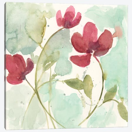 Sweetheart Flowers II Canvas Print #JGO1028} by Jennifer Goldberger Canvas Print