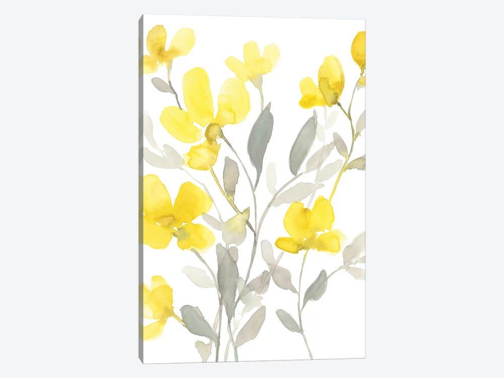 Yellow & Grey Garden I by Jennifer Goldberger 1-piece Canvas Wall Art