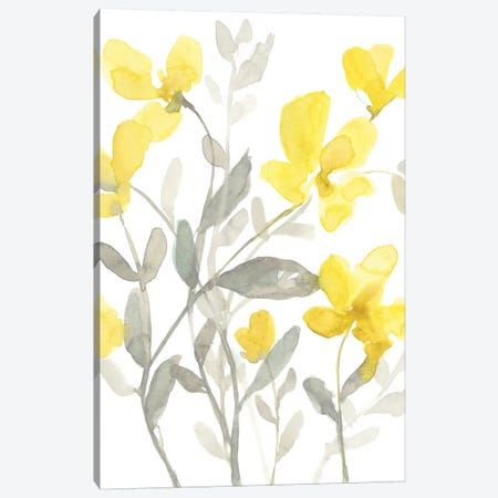 Yellow & Grey Garden II 3-Piece Canvas #JGO1044} by Jennifer Goldberger Canvas Art