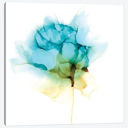 Blooming Cyan I Canvas Print #JGO1057} by Jennifer Goldberger Canvas Print