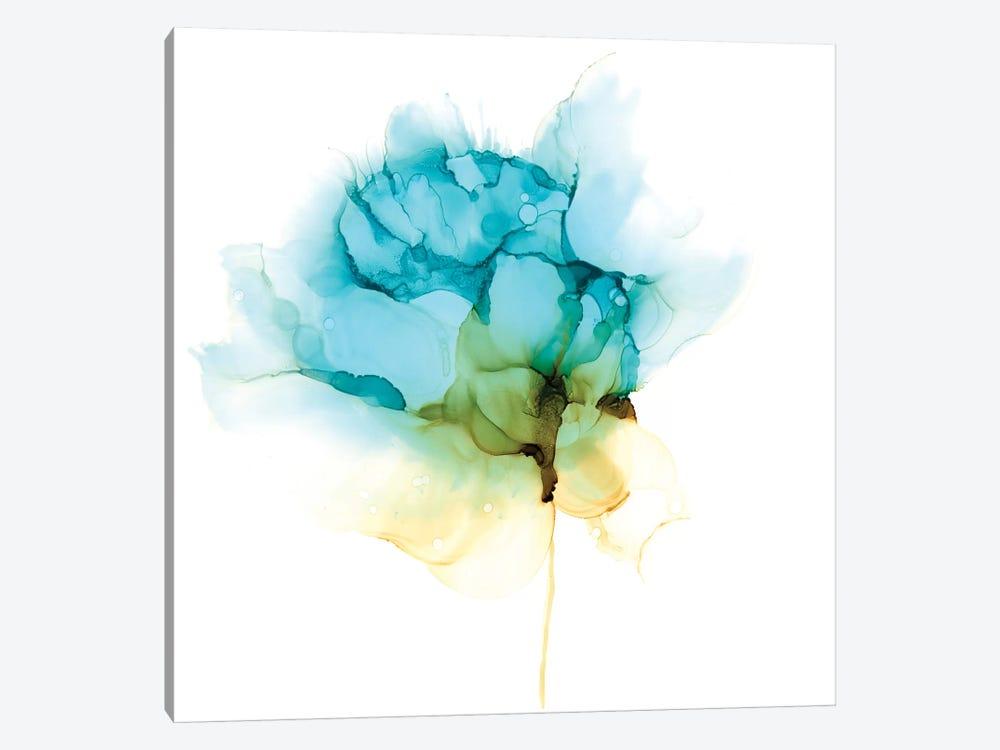 Blooming Cyan I by Jennifer Goldberger 1-piece Canvas Art Print