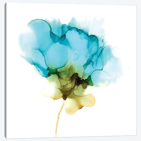 Blooming Cyan II Canvas Print #JGO1058} by Jennifer Goldberger Canvas Art