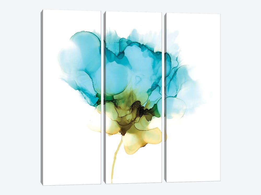 Blooming Cyan II by Jennifer Goldberger 3-piece Canvas Artwork