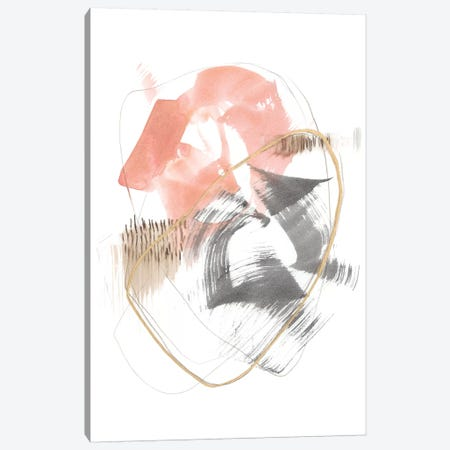 Blushing Circularity I Canvas Print #JGO1059} by Jennifer Goldberger Canvas Art