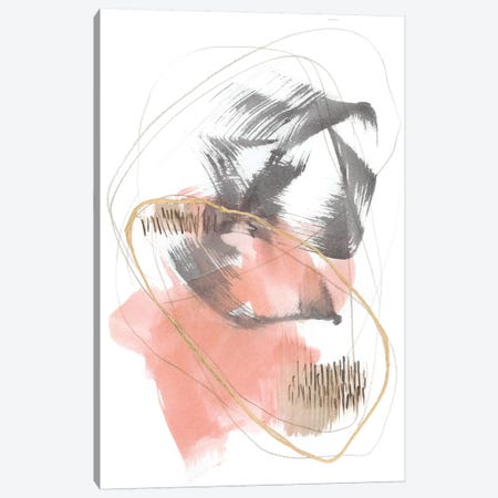 Blushing Circularity II Canvas Print #JGO1060} by Jennifer Goldberger Canvas Print