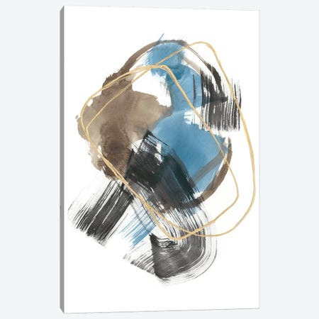 Gold Loops I Canvas Print #JGO1063} by Jennifer Goldberger Canvas Art Print