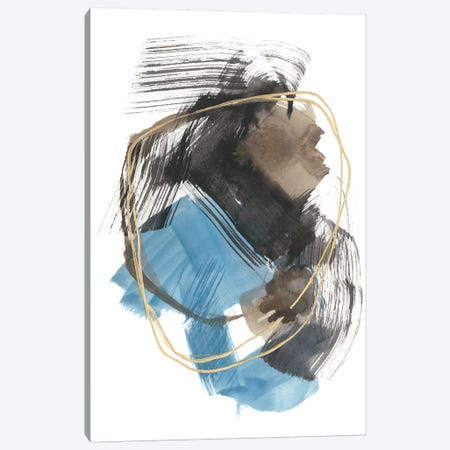 Gold Loops II Canvas Print #JGO1064} by Jennifer Goldberger Canvas Artwork