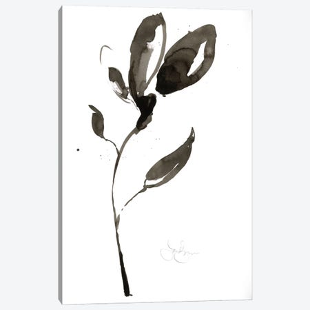 Solitary Sumi-e I Canvas Print #JGO106} by Jennifer Goldberger Art Print