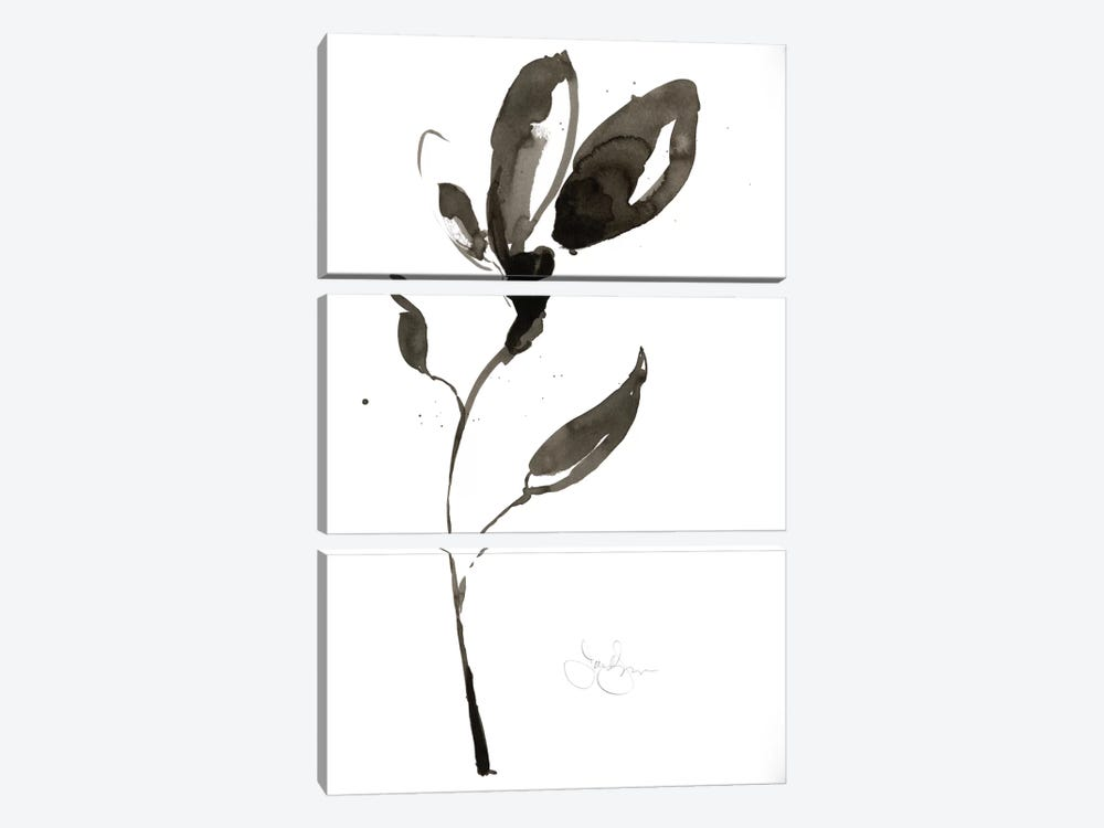 Solitary Sumi-e I by Jennifer Goldberger 3-piece Canvas Art Print