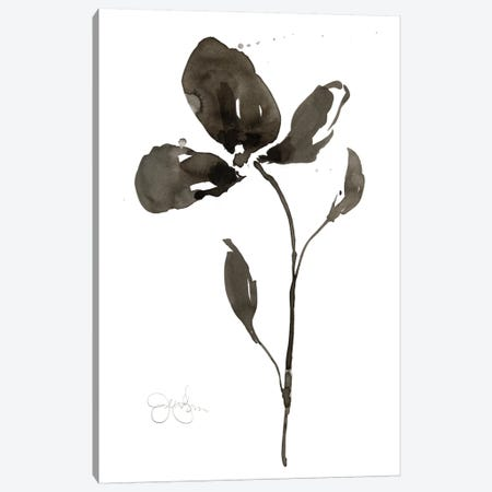 Solitary Sumi-e II Canvas Print #JGO107} by Jennifer Goldberger Art Print