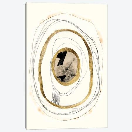 Paper, Gold & Smoke II Canvas Print #JGO1081} by Jennifer Goldberger Canvas Print