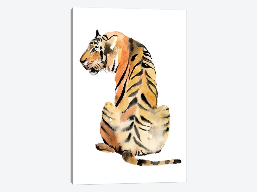 Sitting Tiger II by Jennifer Goldberger 1-piece Canvas Art