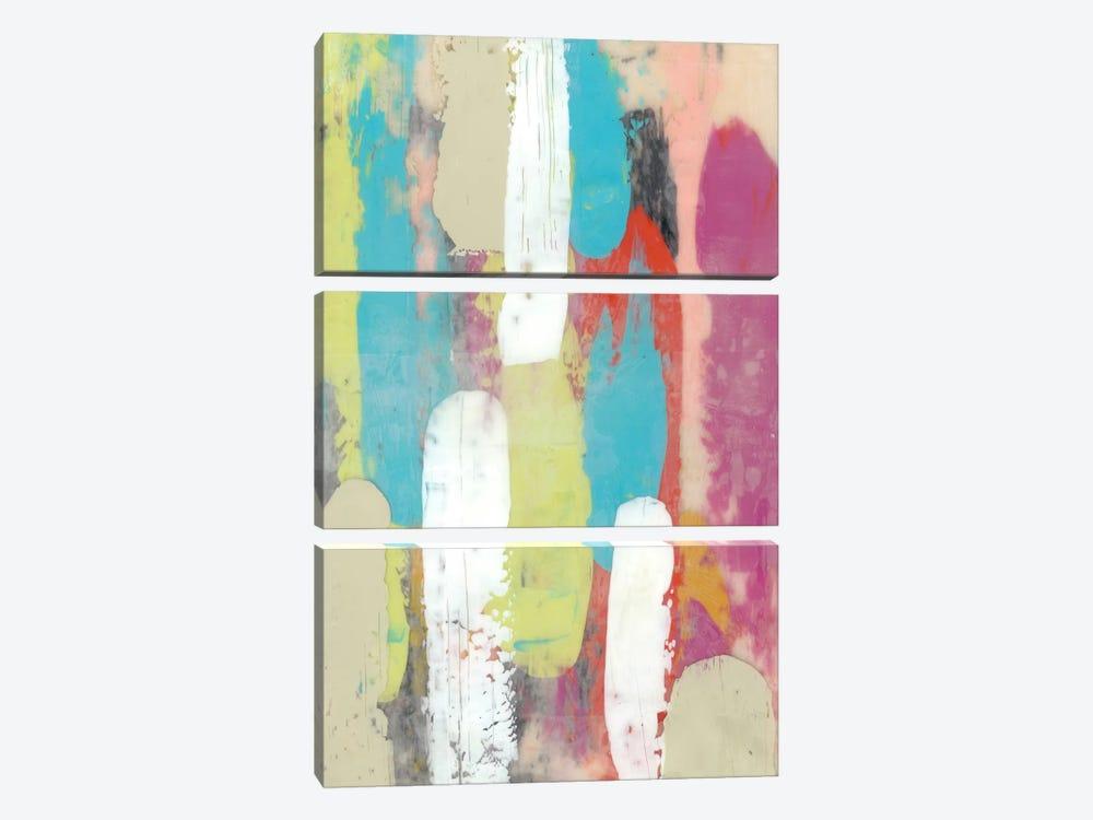Swatch Layers I by Jennifer Goldberger 3-piece Canvas Print