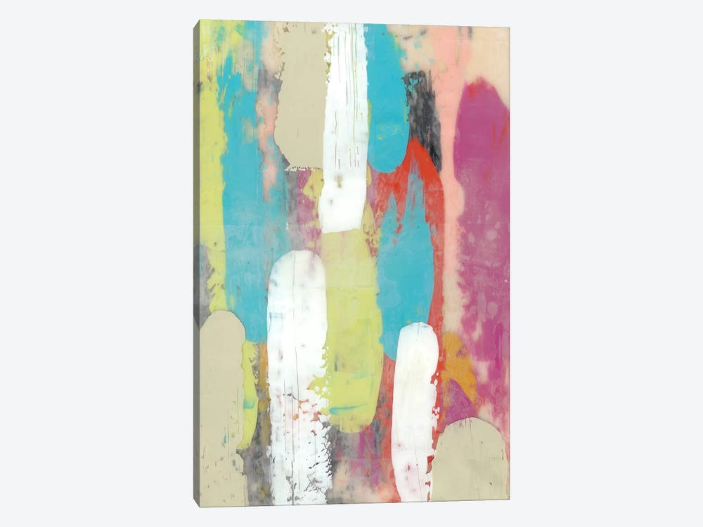 Swatch Layers I by Jennifer Goldberger 1-piece Canvas Print