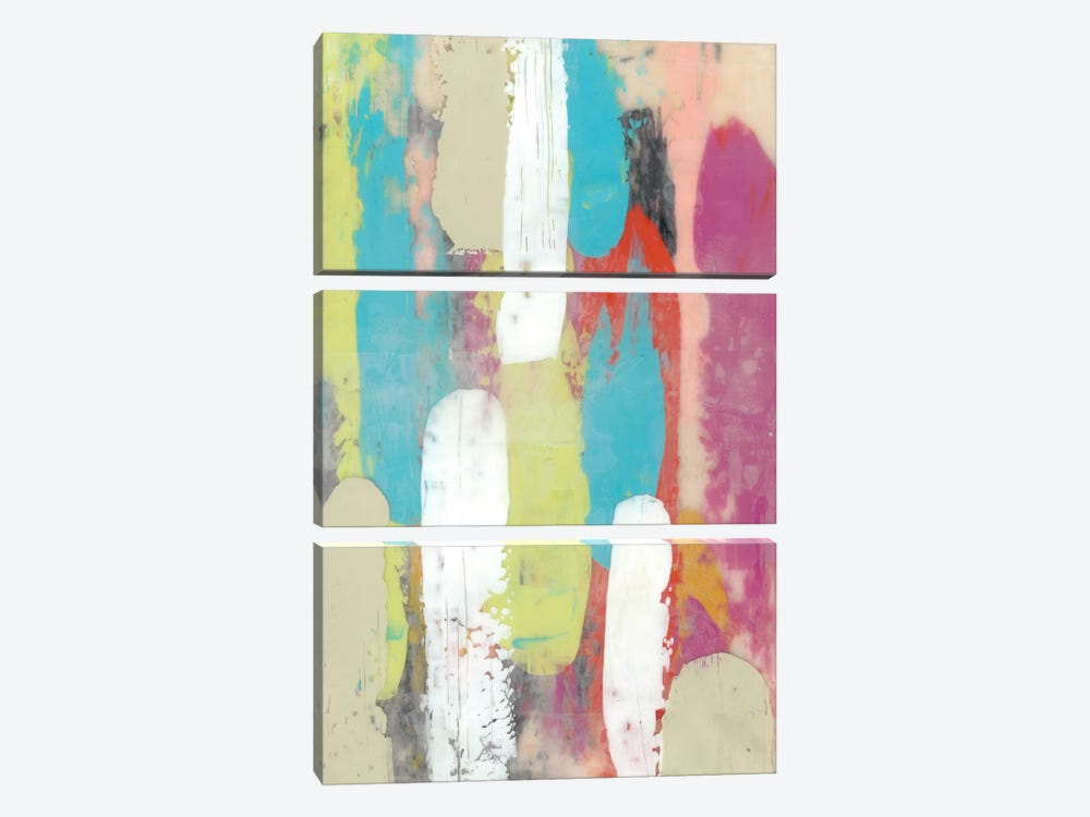 Swatch Layers I by Jennifer Goldberger 3-piece Canvas Print