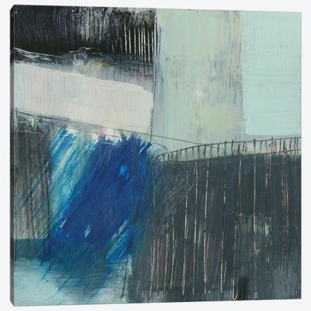 Cobalt Swipe II Canvas Print #JGO1099} by Jennifer Goldberger Canvas Art