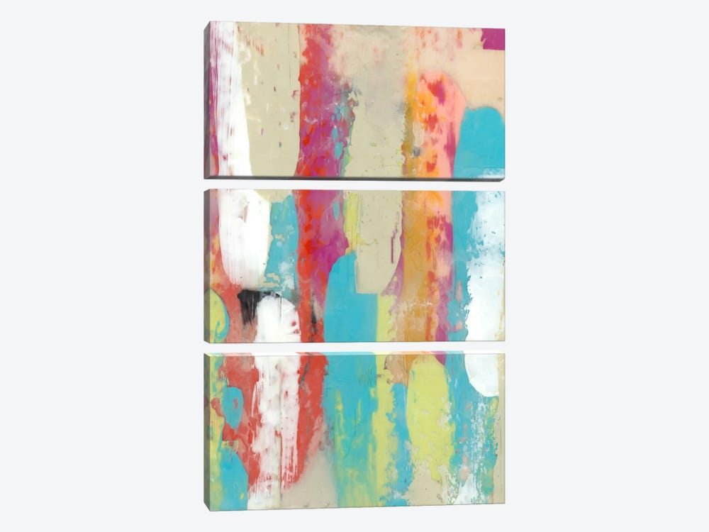 Swatch Layers II by Jennifer Goldberger 3-piece Canvas Art