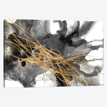 Golden Vortex II 3-Piece Canvas #JGO1119} by Jennifer Goldberger Canvas Art Print
