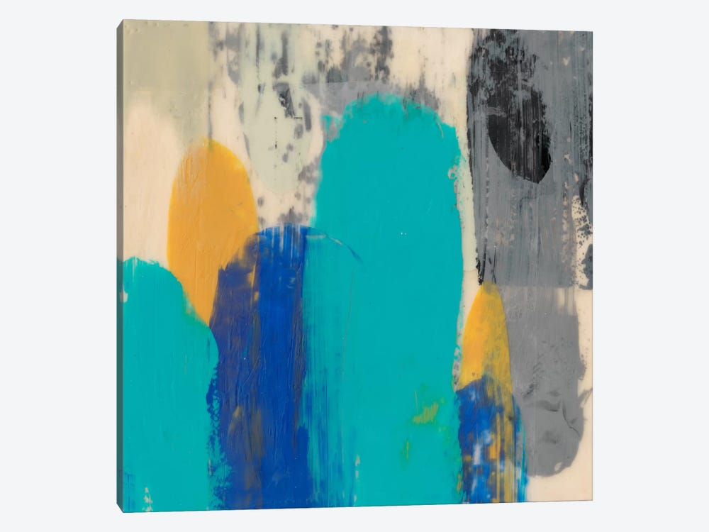 Teal Schmear II by Jennifer Goldberger 1-piece Art Print