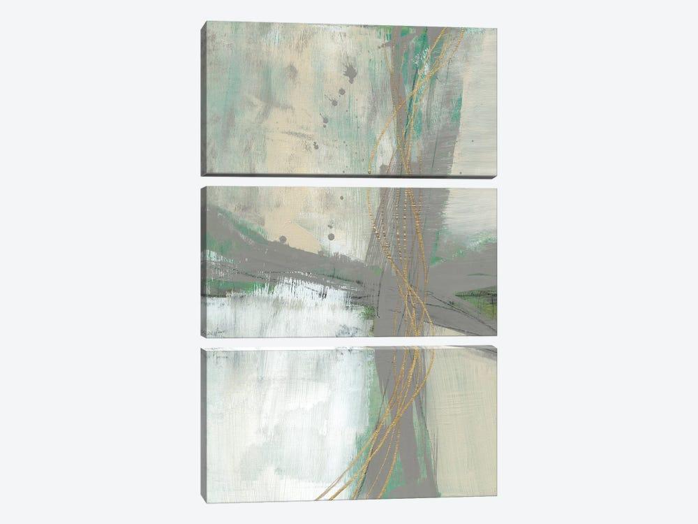 Golden Weave II by Jennifer Goldberger 3-piece Canvas Print