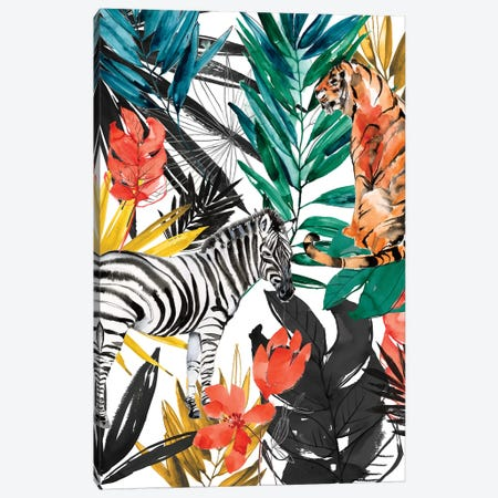 Jungle Life I Canvas Print #JGO1128} by Jennifer Goldberger Canvas Artwork